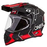 O'Neal Sierra II Comb Motocross Motorrad Helm MX Enduro Trail Quad Cross Offroad Gelände, 0817, Farbe Schwarz Rot, Größe S