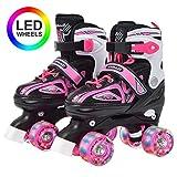 Apollo Super Quad X Pro, verstellbare LED Rollschuhe, ideal für Kinder, komfortable, größenverstellbare Roller Skates für Mädchen und Jungen