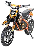 Kinder Mini Elektro Crossbike'Gepard' 500 Watt verstärkte Gabel 36 Volt Enduro Motorcrossbike Pocketbike (Orange)