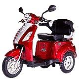 Rolektro E-Trike 25 Rot mit EU Zulassung Elektroroller E-Scooter 600 W Motor 50 KM Reichweite 25 KmH Höschstgeschwindigkeit Eroller E-roller Elektro-Roller Scooter elektrisches Dreirad 3-Rad