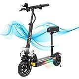 HITWAY Elektro Scooter, E-Roller mit Sitz (800W, 43km / h, max. 40 km, faltbarer Elektroroller mit LCD-Display 10A Li-Ionen-Akku), E Scooter für Jugendliche und Erwachsene (SCHWARZ02)