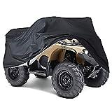 XXXL Quad ATV Abdeckplane NEVERLAND Fahrzeug Abdeckung Schutz Cover Winterfest Staub Regen UV-Schutz Schwarz