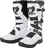 O'NEAL   Motocross-Stiefel   Motorrad Enduro   Innerer Knöchel-, Fuß, und Schaltzonenschutz, Perforiertes Innenfutter, hochwertiger Mikrofaser   Boots RSX   Erwachsene   Weiß   Größe 49