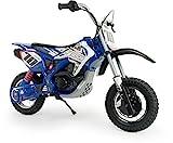 INJUSA - Motorrad Batterie 24V für Kinder 6 bis 12 Jahre mit verstärktem Chassis, Gummiräder, progressiver Beschleunigung im Handgriff und Sattel