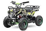 Eco Graffiti Mini Quad 1000W 48V 6 Zoll Kinderquad ATV Kinderfahrzeug (Grafity Gelb)